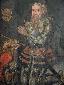 Erik II Emunes portræt i Ribe Domkirke. Foto: Jernved Sognearkiv.