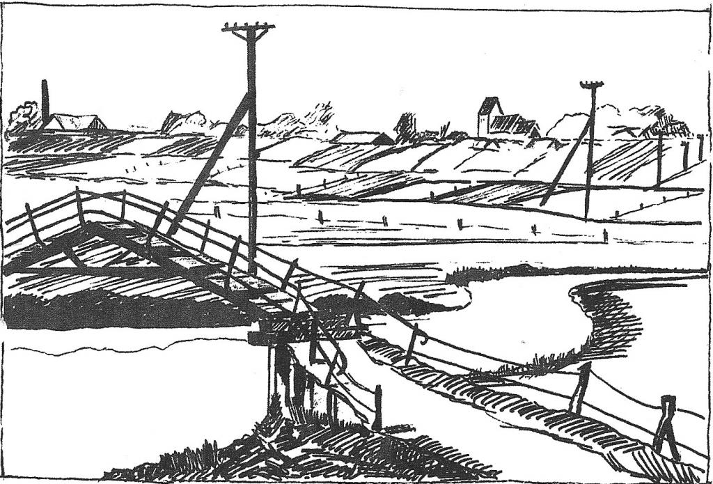 Hjortlund Spang. Tegning: Verner Christensen, Jernved.