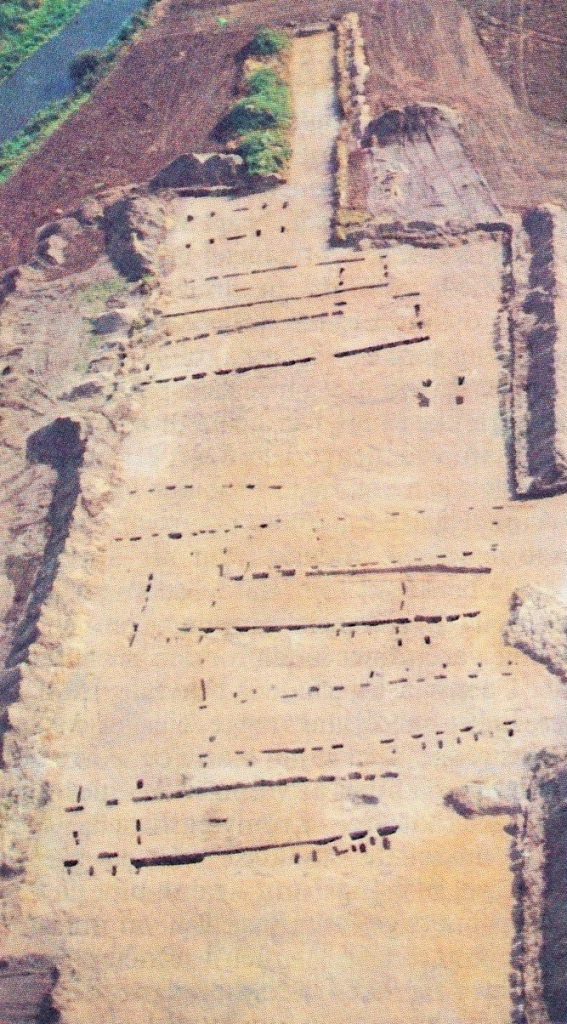 Aerial view of excavation west of Vilslev. Photo: The Antiquarean Collection, South-west Jutland Museums.