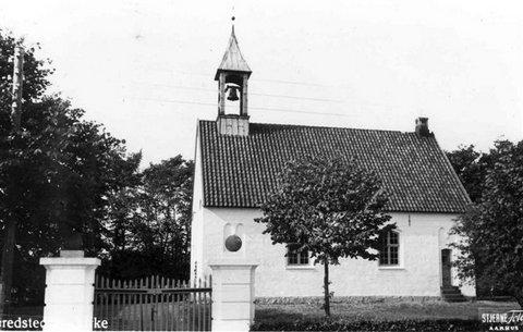 Gredstedbro Kirke blev indviet i 1925. Foto: Jernved Sognearkiv.