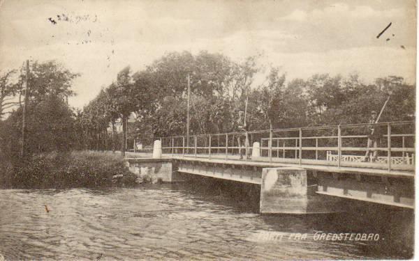 Bevogtningen på Kongeåbroen 1915. Foto: Ukendt.