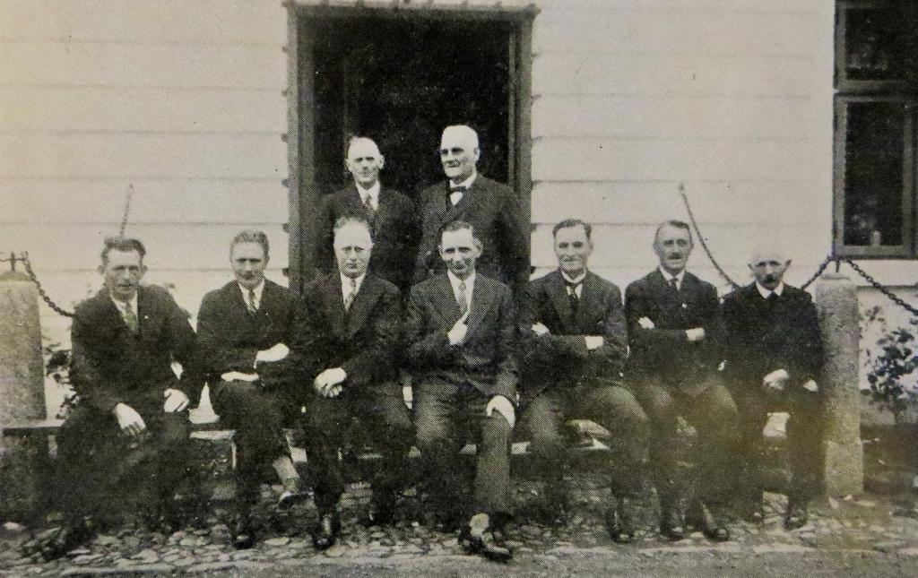 Ledelsen og medarbejderne ved Jedsted Mølle i 1934.