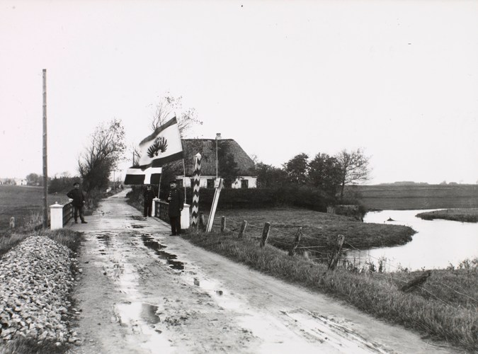 The border at Skodborghus, around 1910. Photo: Det Kongelige Bibliotek.