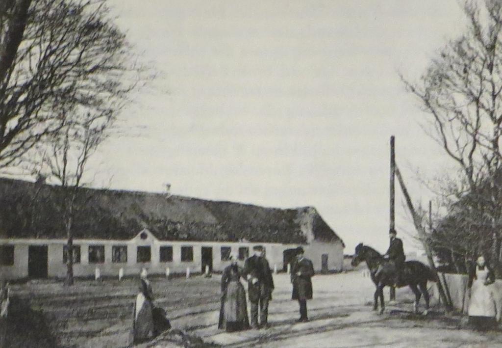 Wirtshaus in Gredstedbro Anfang der 1890er Jahre.