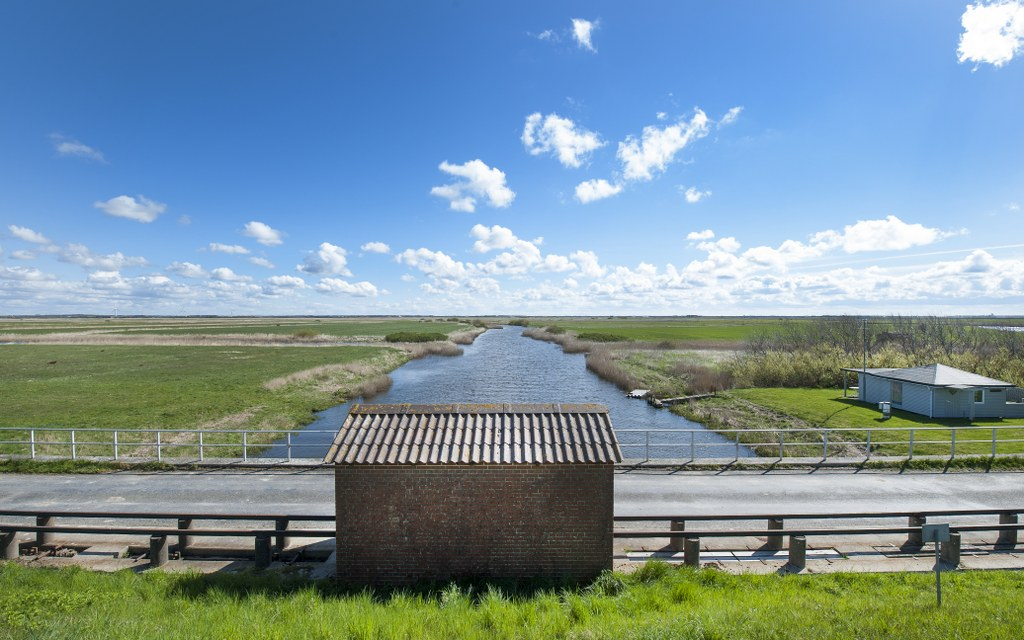 The Kongeå lock and the view over the Kongeå river.  Photo: Esbjerg Town Historical Archives, Torben Meyer.