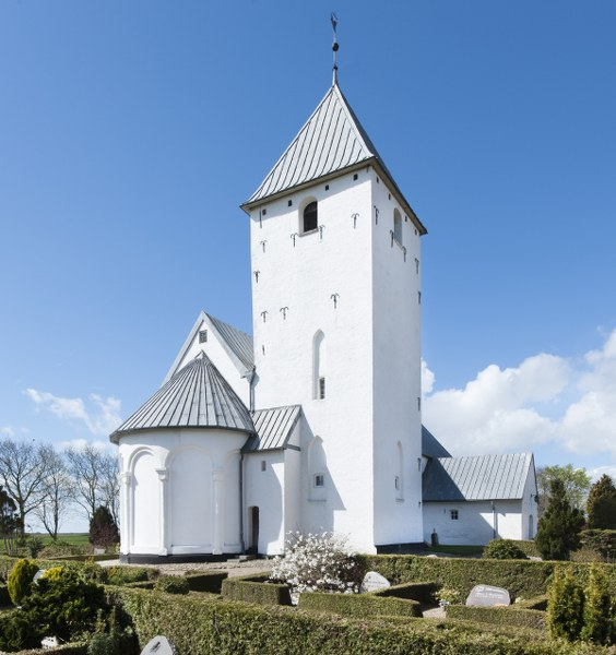 Vilslev Church is dedicated to St. Nikolaj. Photo: Esbjerg Town Historical Archives, Torben Meyer.