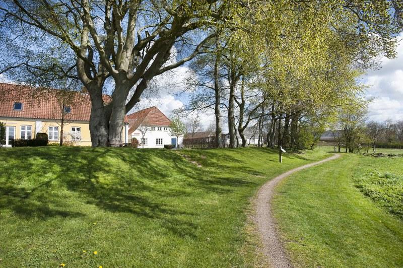 En af Vilslevs smukke gårde. Foto: Torben Meyer.