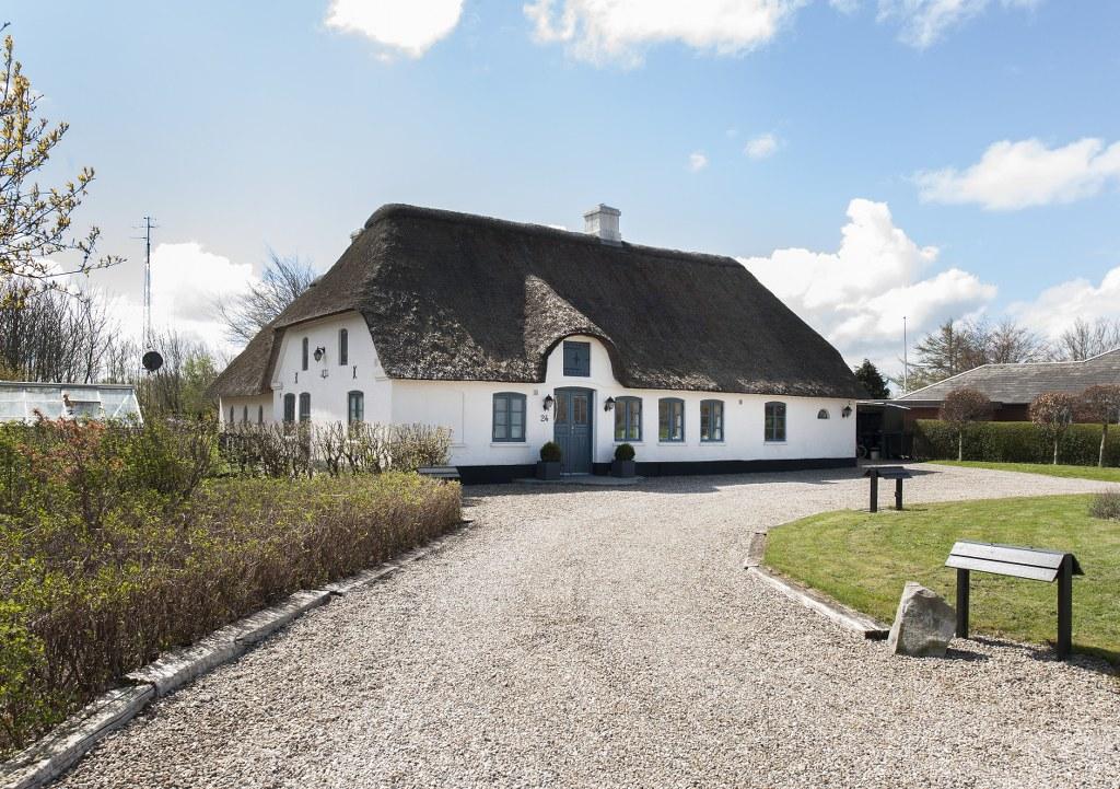 En af de smukke gårde i Jedsted. Foto: Torben Meyer.