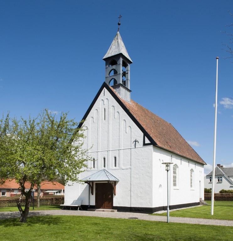 Die Kirche von Gredstedbro wurde 1925 eingeweiht. Foto: Historisches Archiv der Stadt Esbjerg, Torben Meyer.