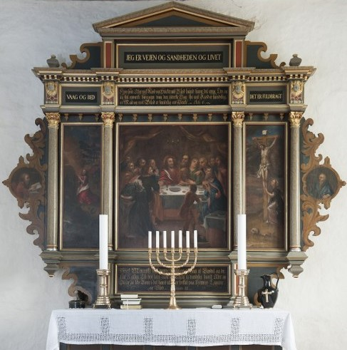 The altarpiece originates from approximately 1585. Photo: Esbjerg Town Historical Archives, Torben Meyer.