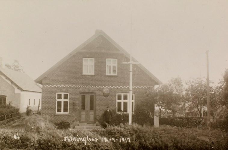 Dänische Zollkontrollstelle in Foldingbro, 1917. Foto: Det Kongelige Bibliotek